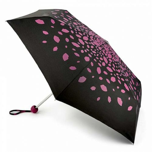 Lulu Guinness Minilite-2 Raining Lips Pink Umbrella